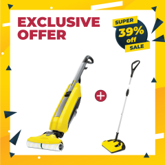 BUNDLE: Quick and Easy Combo. Sweep & Scrub for Spotless Floors