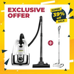 BUNDLE: Apartment Combo. Vacuum Cleaner VC2 Premium with FREE Electric Broom K65 Plus